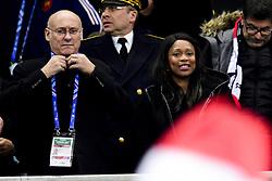 November 18, 2017 - Paris, France, France - Bernard Laporte - president FFR.Laura Flessel - Ministre des Sports (Credit Image: © Panoramic via ZUMA Press)
