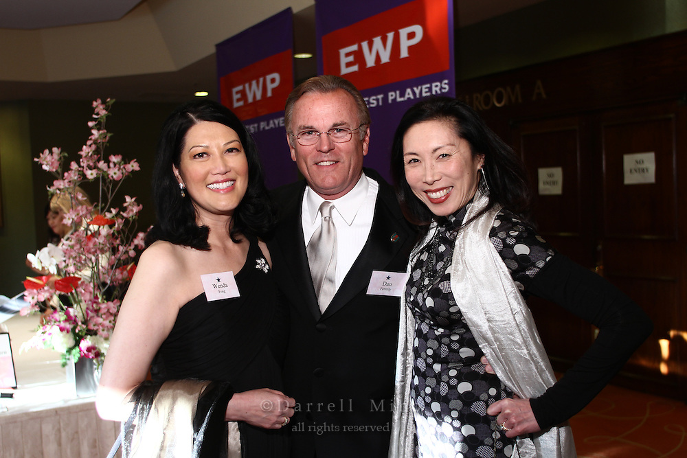 Apr. 19, 2010; Universal City, CA - Honoree Wenda Fong (L) with her husband Dan Fetterly and a friend at the East West Players 45th Visions Awards at the Universal Hilton.