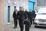 Match officials arrive during the Europa League third qualifying round leg 2 of 2 match between Burnley and Istanbul basaksehir at Turf Moor, Burnley, England on 16 August 2018.