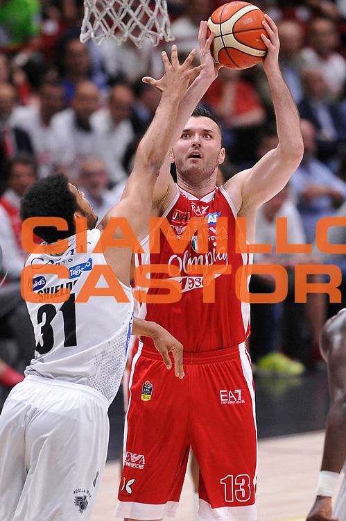 Milan Macvan<br /> EA7 Emporio Armani Olimpia Milano - Dolomiti Energia Aquila Basket Trento<br /> Lega Basket Serie A, Semifinali Playoff 2016/2017<br /> Milano, 25/05/2017<br /> Foto Ciamillo-Castoria