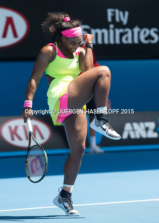 Serena Williams (USA) jubelt, Jubel,Emotion,<br />