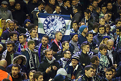 LIVERPOOL, ENGLAND - Thursday, November 26, 2015: FC Girondins de Bordeaux supporters before the UEFA Europa League Group Stage Group B match against Liverpool at Anfield. (Pic by David Rawcliffe/Propaganda)