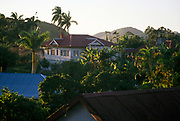 Colonial style bungalow housing and gardens, Christiana, near Spalding, Clarendon parish, Jamaica, West Indies, 1990