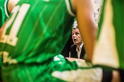 Issuf Vladlen Simon of KK Olimpija during basketball match between KK Union Olimpija and KK Krka Novo Mesto in 1st Round of Nova KBM league, on October 11, 2018, in SD Leona Stuklja, Novo Mesto, Slovenia. Photo by Grega Valancic / Sportida