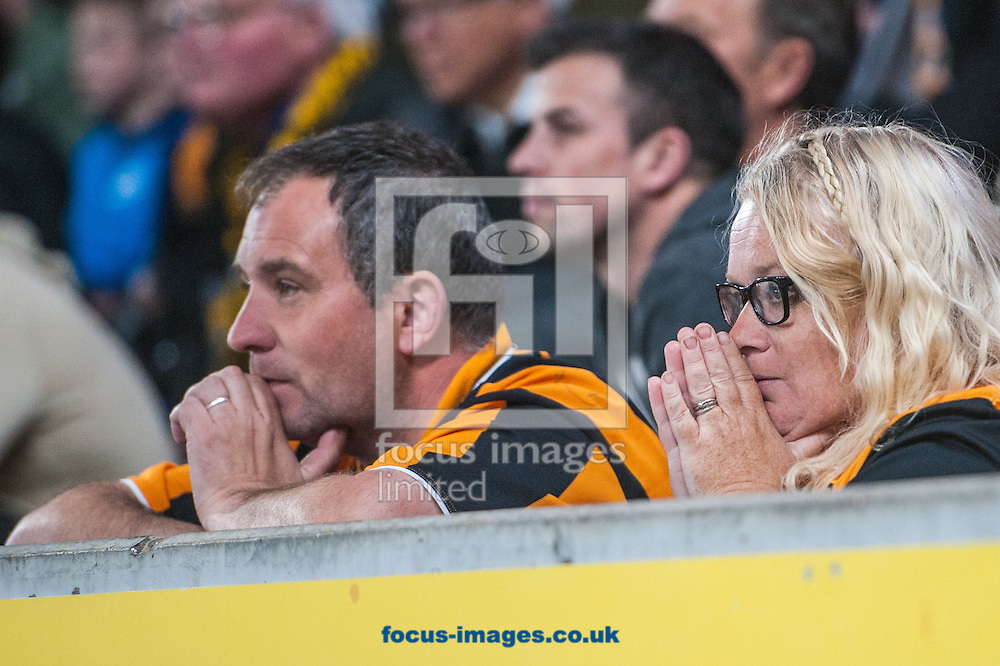 Hull City fans looking nervous as the final whistle approaches during the Sky Bet Championship Playoff Semi-final Leg Two at KC Stadium, Hull<br /> Picture by Matt Wilkinson/Focus Images Ltd 07814 960751<br /> 17/05/2016