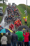 The peloton as they enter into Walkington East Yorkshire before heading into Beverley during the first stage of the Tour de Yorkshire from Doncaster to Selby, Doncaster, United Kingdom on 2 May 2019.