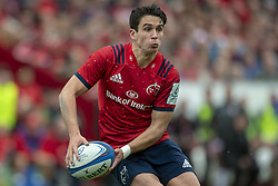 October 20, 2018 - Limerick, Ireland - Joey Carbery of Munster runs with the ball during the Heineken Champions Cup match between Munster Rugby and Gloucester Rugby at Thomond Park in Limerick, Ireland on October 20, 2018  (Credit Image: © Andrew Surma/NurPhoto via ZUMA Press)