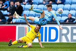 Stuart Sinclair of Bristol Rovers is fouled by Tom Bayliss of Coventry City - Mandatory by-line: Robbie Stephenson/JMP - 07/04/2019 - FOOTBALL - Ricoh Arena - Coventry, England - Coventry City v Bristol Rovers - Sky Bet League One