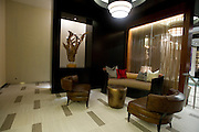 One of the lounge areas on the first floor of the new Continental apartment building before its official opening in Dallas on Tuesday, March 12, 2013. (Cooper Neill/The Dallas Morning News)