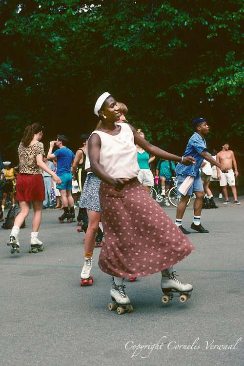 Roller Disco in Central Park, New York City, 1991.