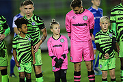 Forest Green Rovers accademy during the FA Youth Cup match between Forest Green Rovers and Helston Athletic at the New Lawn, Forest Green, United Kingdom on 29 October 2019.