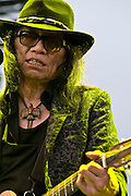 WA - MAY 25: Sixto Diaz Rodriguez  performs live onstage at the Gorge Amphitheater on May 25, 2014 in George, Washington. (Photo by Steven Dewall)