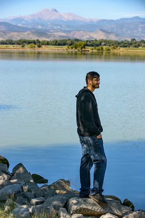 Silver Creek High School senior Zach Heller at the Sugarbeet restaurant and McIntosh Lake in Longmont, Colo., on Sept. 19, 2015.