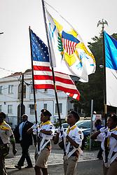 Seventh Day Adventist Pathfinders.  Veteran's Day Parade and Program at the Frankliin Delano Roosevelt Memorial Park in Charlotte Amalie.  St. Thomas.  11 November 2013.  © Aisha-Zakiya Boyd
