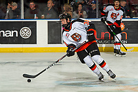 KELOWNA, BC - NOVEMBER 8: Teague Patton #39 of the Medicine Hat Tigers warms up on the ice against the Kelowna Rockets for his first WHL career game at Prospera Place on November 8, 2019 in Kelowna, Canada. (Photo by Marissa Baecker/Shoot the Breeze)