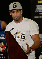Dec 12,2012. Los Angeles CA. USA.. Amir Khan at Los Angeles press conference on his upcoming fight this Saturday with Carlos Molina. The fight will be scene on ShowTime live from the Los Angeles Sports Arena Saturday  Dec 10th.  Photo by Gene Blevins/LA Daily News