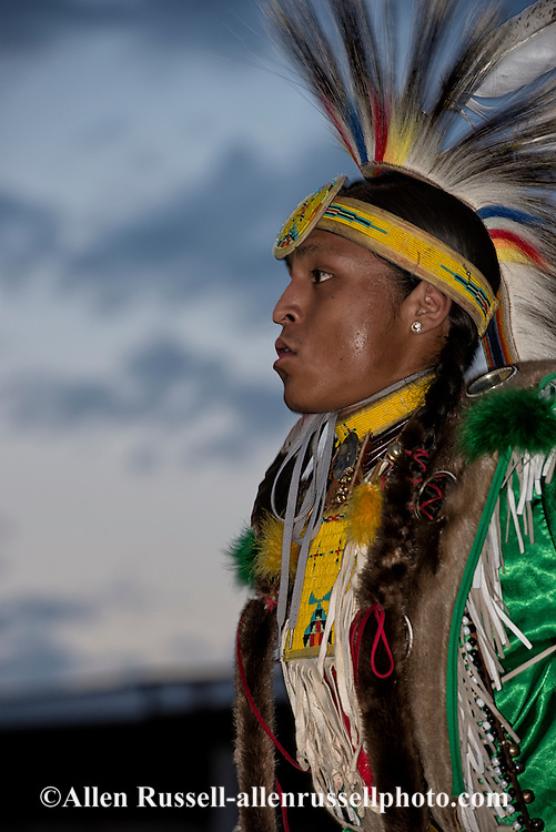 Crow Fair Powwow, Traditional Dancer, Crow Indian Reservation, Montana