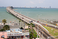 Bridge over Inner Coastal Waterway from Port Isabel to South Padre Island, Texas
