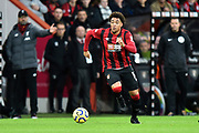Arnaut Danjuma (14) of AFC Bournemouth on the attack during the Premier League match between Bournemouth and Liverpool at the Vitality Stadium, Bournemouth, England on 7 December 2019.