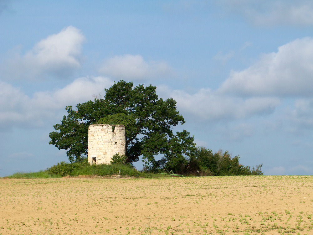 The Way of Saint James passed this small tower just after Auvillar in the Tarn and Garonne region of South-West France