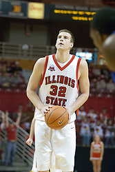 02 December 2006: Levi Dyer at the line. In a non-conference game, the Mavericks of University of Texas at Arlington lost to the Redbirds home 86-61. The win was the 5th in a row for the Redbirds, the longest winning streak in 6 years. the game was played at Redbird Arena in Normal Illinois on the campus of Illinois State University.<br />