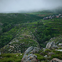 Village in the Freita mountains, with the pastures that use to be tha feeding ground for the sheep and goat herds that used to exist there.