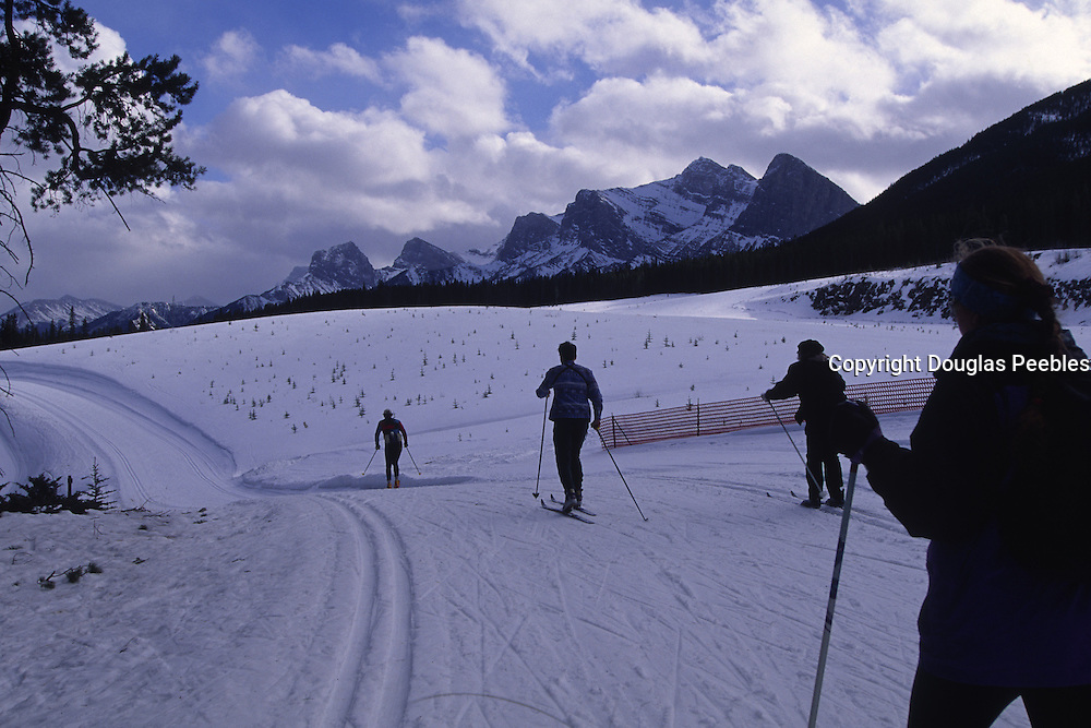 Cross country skiing, Canmore Nordic Center, Alberta, Canada<br />