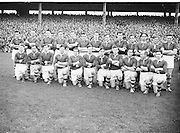 All Ireland Senior Football Final Replay. Meath v Cavan..The Meath Team..Winners - Cavan 0.9 - 0.5..12.10.1952. 10.12, 1952, 12th October 1952. .Morris, J. McCabe, P. Brady, D. Maguire, P. Carolan, L. Maguire, B. O'Reilly, V. Sherlock, T. Hardy, S. Hetherton, M. Higgins (Captain), E. Carolan, J. J. Cassidy, A. Tighe, J. Cusack. Note: P. Fitzsimons played in drawn game. J. Cusack came on for replay. P. Fitzsimmons was introduced as Sub for J. J. Cassidy in replay.