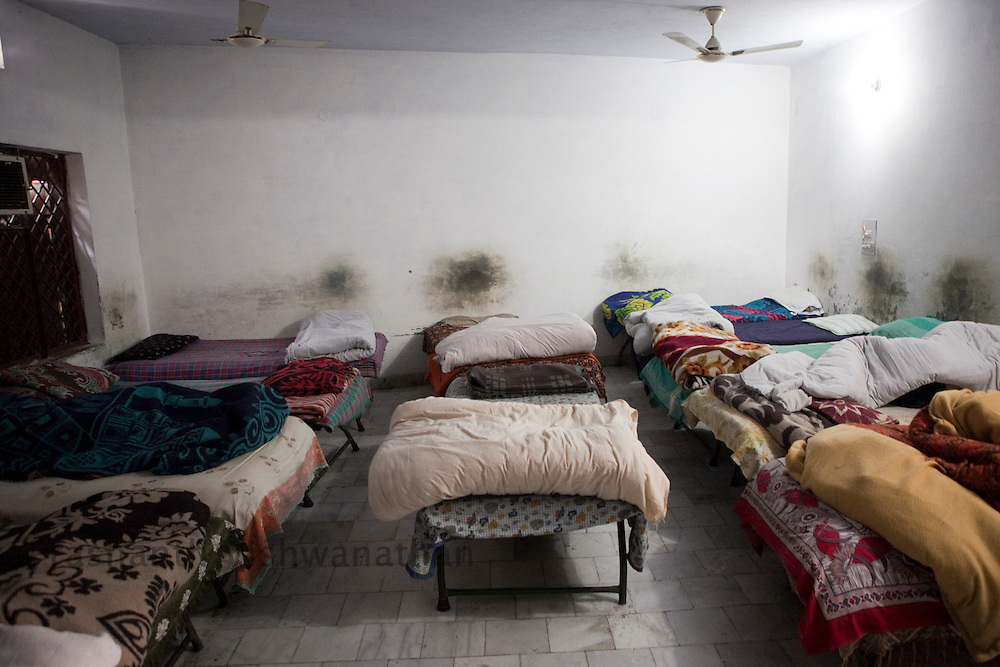 "A general view of the dormitory of at ""Navjeevan"" a  drug rehabilitation center in Amritsar, India, on Wednesday, December 15, 2010. Photographer: Prashanth Vishwanathan/HELSINGIN SANOMAT"