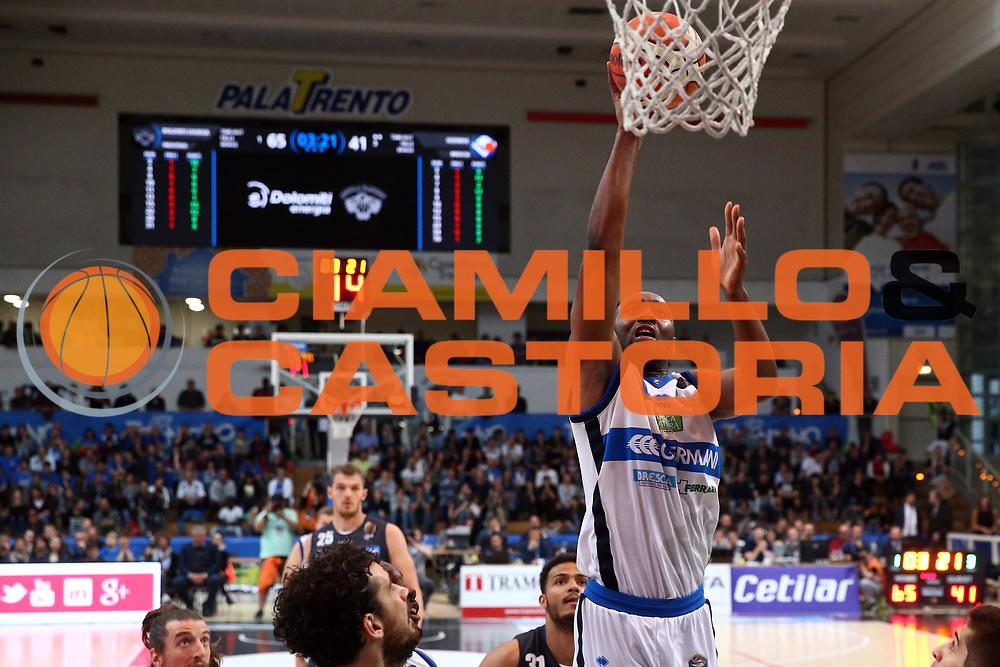 Landry Marcus<br /> Dolomiti Energia Trentino vs Germani Basket Brescia<br /> Lega Basket Serie A 2016/2017<br /> Trento, 23/04/2017<br /> Foto Ciamillo-Castoria/A. Gilardi