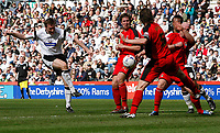 Photo: Steve Bond.<br /> Derby County v Coventry City. Coca Cola Championship. 09/04/2007. Steve Howard shoots