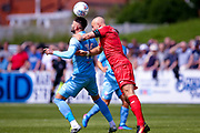 Bolton Wanderers striker Gary Madine (14) heads the ball on during the Pre-Season Friendly match between Chorley and Bolton Wanderers at Victory Park, Chorley, United Kingdom on 8 July 2017. Photo by Simon Davies.