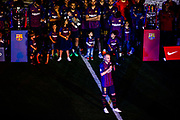 08 Andres Iniesta from Spain of FC Barcelona talking during the Andres Iniesta farewell at the end of the La Liga football match between FC Barcelona and Real Sociedad on May 20, 2018 at Camp Nou stadium in Barcelona, Spain - Photo Xavier Bonilla / Spain ProSportsImages / DPPI / ProSportsImages / DPPI