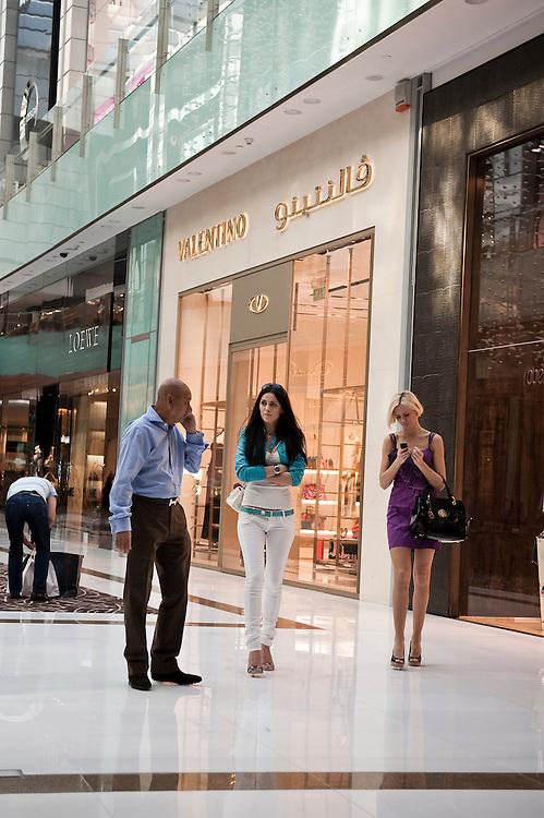 Tourists at Dubai Mall,Dubai, UAE on February 10,2010