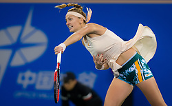 September 26, 2018 - Petra Kvitova of the Czech Republic in action during her third-round match at the 2018 Dongfeng Motor Wuhan Open WTA Premier 5 tennis tournament (Credit Image: © AFP7 via ZUMA Wire)