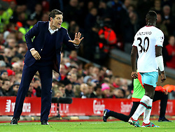 West Ham United manager Slaven Bilic gives instructions to Michail Antonio  - Mandatory by-line: Matt McNulty/JMP - 11/12/2016 - FOOTBALL - Anfield - Liverpool, England - Liverpool v West Ham United - Premier League