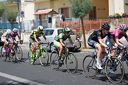 Marta Tagliaferro in the strung out bunch on Stage 10 of the Giro Rosa - a 124 km road race, starting and finishing in Torre Del Greco on July 9, 2017, in Naples, Italy. (Photo by Sean Robinson/Velofocus.com)