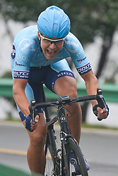 September 15, 2017 - Chenghu City, United States - Armands Becis from Rietumu Banka-Riga team during the fourth stage of the 2017 Tour of China 1, the 3.3 km Chenghu Jintang individual time trial. .On Friday, 15 September 2017, in Jintang County, Chenghu City,  Sichuan Province, China. (Credit Image: © Artur Widak/NurPhoto via ZUMA Press)
