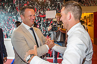 ALKMAAR - 28-08-2016, AZ - NEC, AFAS Stadion, 2-0, Vincent Janssen , afscheid, AZ trainer John van den Brom