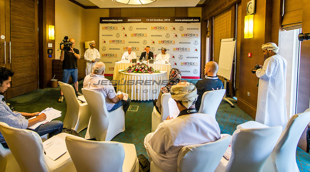 RS:X WORLD CHAMPIONSHIP 2015, October 17th-24th Al Mussanah Sports City, Sultanate of Oman.Press Conference  16.10.2015<br /> <br /> Credit Jesus Renedo