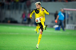 Kevin Kampl of Borussia Dortmund at warming up prior to the football match between WAC Wolfsberg (AUT) and  Borussia Dortmund (GER) in First leg of Third qualifying round of UEFA Europa League 2015/16, on July 30, 2015 in Wörthersee Stadion, Klagenfurt, Austria. Photo by Vid Ponikvar / Sportida