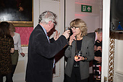 DANIEL JOHNSON, VICKY PRYCE, Literary Review  40th anniversary party and Bad Sex Awards,  In & Out Club, 4 St James's Square. London. 2 December 2019