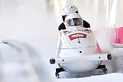 South Korea, PyeongChang - 2018 February 17: Mateusz  Luty (pilot) and Krzysztof Tylkowski both from Poland compete at Bobsleigh - 2-man Official Training Heat 5 during The 2018 PyeongChang Olympic Winter Games at Alpensia Ski Jumping Centre on February 17, 2018 in PyeongChang, South Korea.<br /> <br /> Mandatory credit:<br /> Photo by &copy; Adam Nurkiewicz<br /> <br /> Adam Nurkiewicz declares that he has no rights to the image of people at the photographs of his authorship.<br /> <br /> Picture also available in RAW (NEF) or TIFF format on special request.<br /> <br /> Any editorial, commercial or promotional use requires written permission from the author of image.