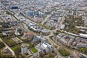 Nederland, Amsterdam, Mauritskade, 16-04-2008; onder in beeld het Koninklijk Instituut voor de Tropen KIT (Tropenmuseum), midden rechts dierentuin Artis aan de Plantage Middenlaan, links boven het midden de hoogbouw van de Uva (Universiteit van Amsterdam) aan de Roeterseiland (Natuurwetenschappen), linksonder het Oosterpark met het NH Hotel ..luchtfoto (toeslag); aerial photo (additional fee required); .foto Siebe Swart / photo Siebe Swart