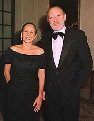 The SPANISH AMBASSADOR HE DON ALBERTO AZA & SENORA DE AZA, at a dinner in london on 15th December 1998.MNA 30
