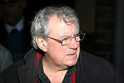 © Licensed to London News Pictures. 09/12/2015. London, UK. British comedian and screenwriter TERRY JONES, best known as a member of Monty Python, leaving the service... The funeral of former brothel keeper Cynthia Payne takes place at the South London Crematorium.  In 1980 Cynthia Payne was sentenced to 18 months for running a brothel at her house on Ambleside Avenue in Streatham. It was alleged, at the time, that judges and Members of Parliament were visitors to her establishment. Photo credit: Peter Macdiarmid/LNP
