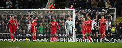 NEWCASTLE, ENGLAND - Saturday, December 11, 2010: Liverpool's goalkeeper Jose Reina during looks dejected after conceding Newcastle United's opening goal during the Premiership match at St James' Park. (Photo by: David Rawcliffe/Propaganda)
