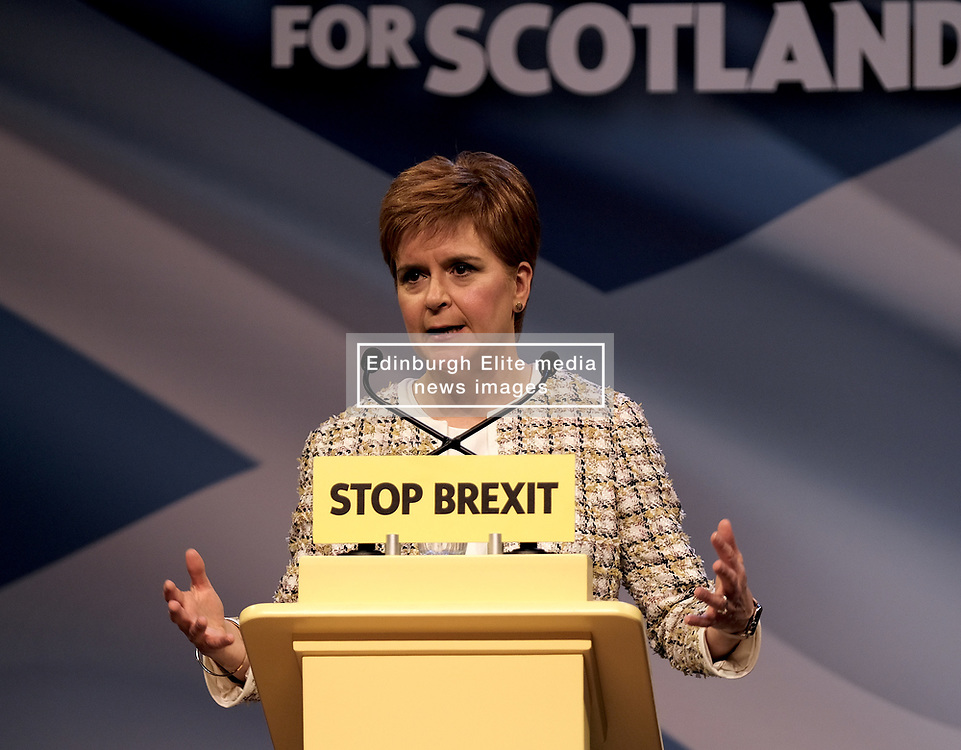 Nicola Sturgeon, Wednesday, 27th November 2019<br /> <br /> Pictured: Scotland's First Minister Nicola Sturgeon launches the SNP manifesto for the 2019 General Election<br /> <br /> Alex Todd | Edinburgh Elite media