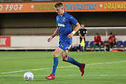 AFC Wimbledon Jack Rudoni (12) dribbling during the Pre-Season Friendly match between AFC Wimbledon and Brentford at the Cherry Red Records Stadium, Kingston, England on 5 July 2019.