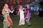 ANYA BARKER;  EMILY STEEL;  ROBIN WIGHT, V & A Summer party. South Kensington. London. 22 June 2016